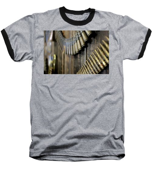 Baseball T-Shirt featuring the photograph Metal And Wood by Lora Lee Chapman
