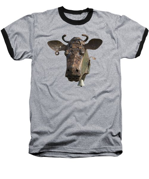 Metal Art Cow II Baseball T-Shirt
