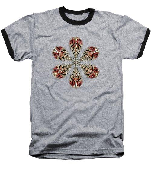 Metal Flower Baseball T-Shirt