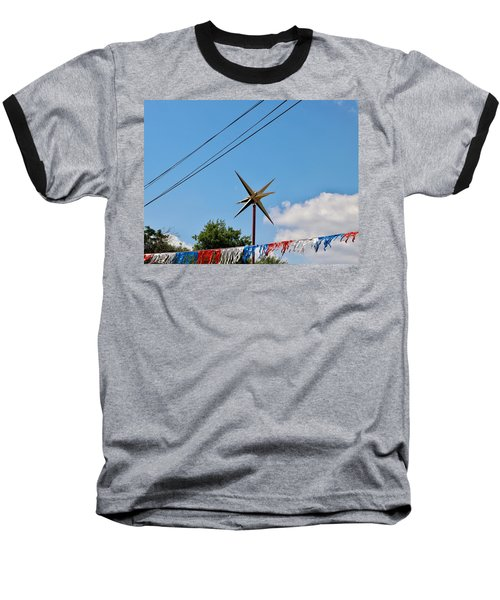 Metal Star In The Sky Baseball T-Shirt
