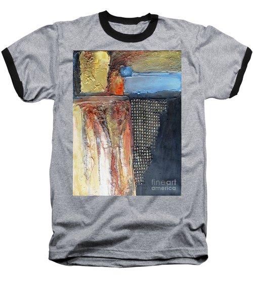 Metallic Fall With Blue Baseball T-Shirt