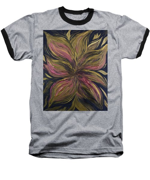 Metallic Flower Baseball T-Shirt