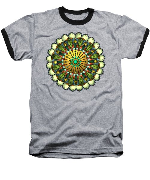 Metallic Mandala Baseball T-Shirt