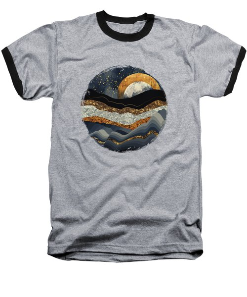 Metallic Mountains Baseball T-Shirt by Katherine Smit