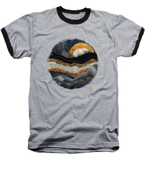 Metallic Mountains Baseball T-Shirt