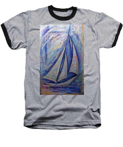 Metallic Seas Baseball T-Shirt