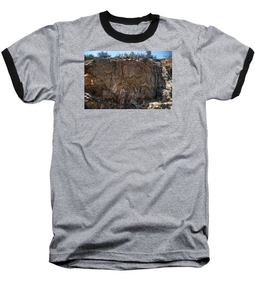 Metamorphic Geologic Wall In Kings Canyon Giant Sequoia National Monument Sequoia National Forest Baseball T-Shirt