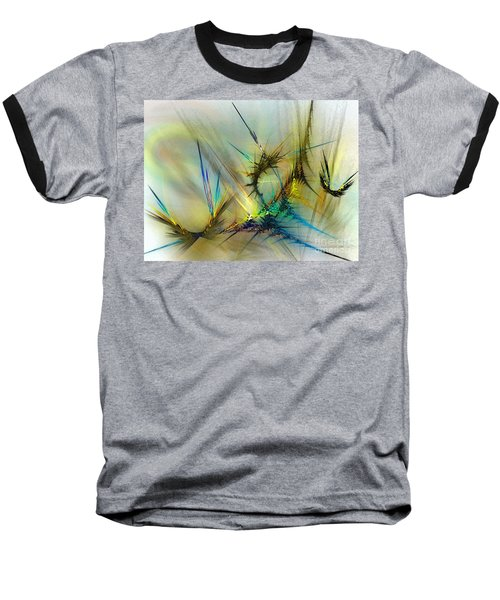 Metamorphosis Baseball T-Shirt by Karin Kuhlmann