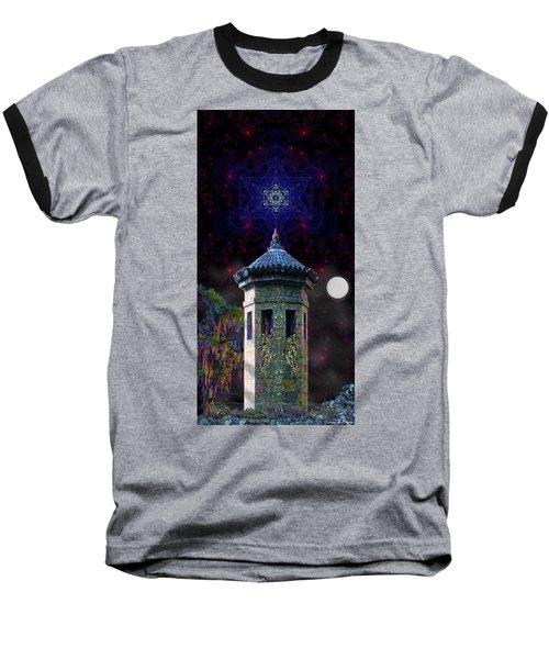 Metatron Nocturnal Baseball T-Shirt by Iowan Stone-Flowers