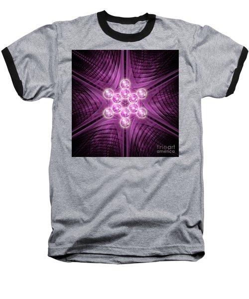 Metatron's Cube Atomic Baseball T-Shirt