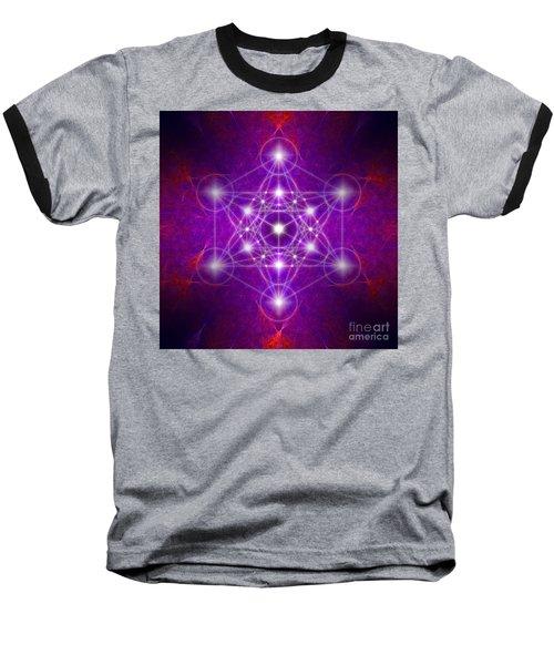 Metatron's Cube Colors Baseball T-Shirt