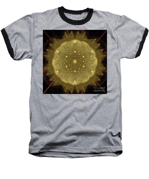 Metatron's Cube Geometric Baseball T-Shirt