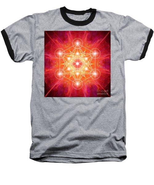 Metatron's Cube Light Baseball T-Shirt