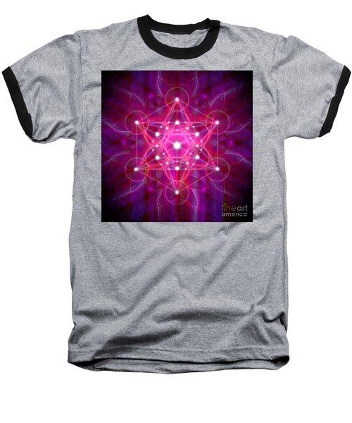 Metatron's Cube Reflection Baseball T-Shirt