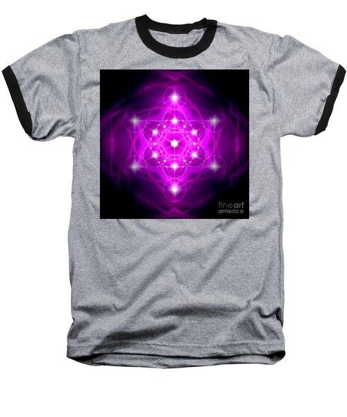 Metatron's Cube Vibration Baseball T-Shirt