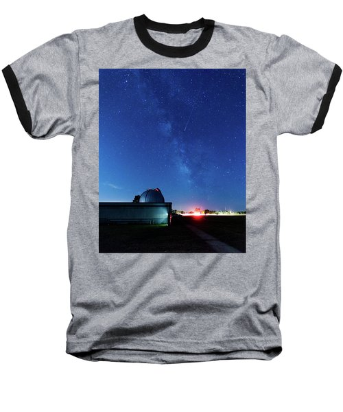Meteor And Observatory Baseball T-Shirt by Jay Stockhaus