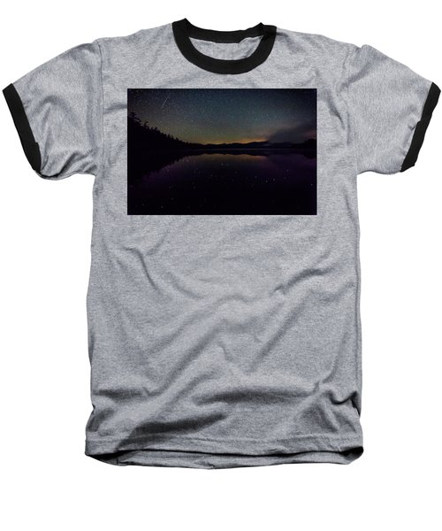 Meteor Over Chocorua Lake Baseball T-Shirt
