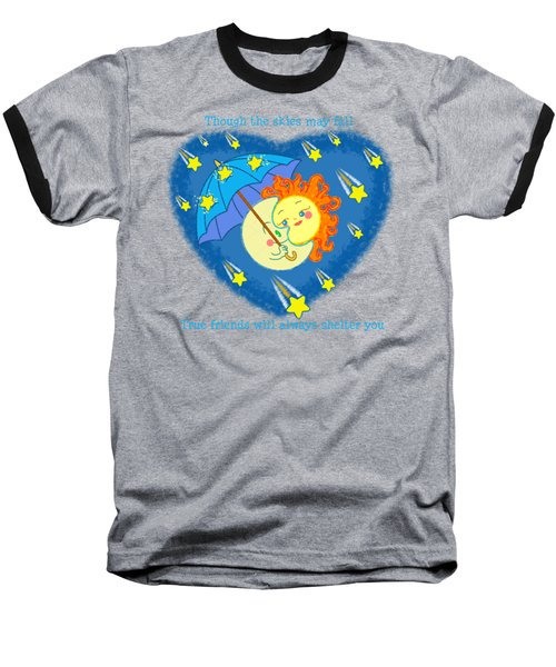 Meteor Shower 3 Baseball T-Shirt by J L Meadows