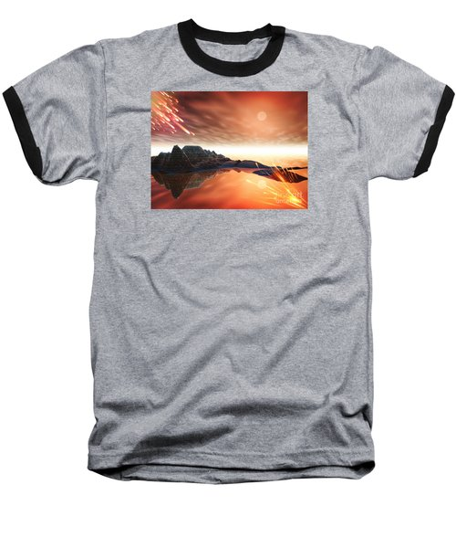 Baseball T-Shirt featuring the digital art Meteroite by Jacqueline Lloyd