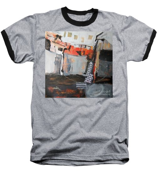 Metro Abstract Baseball T-Shirt by Ron Stephens