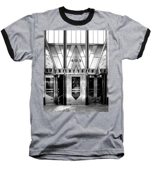 Metropolis Baseball T-Shirt by Art Shimamura
