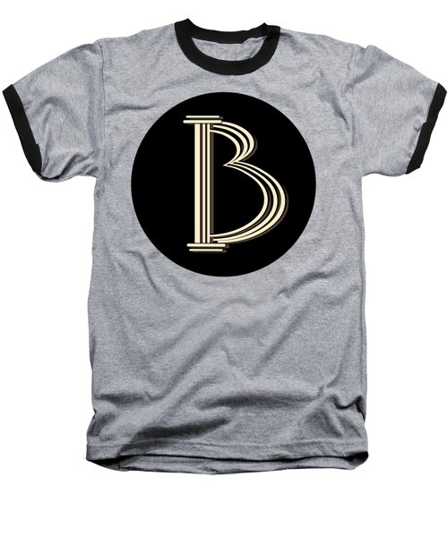 Metropolitan Park Deco 1920s Monogram Letter Initial B Baseball T-Shirt