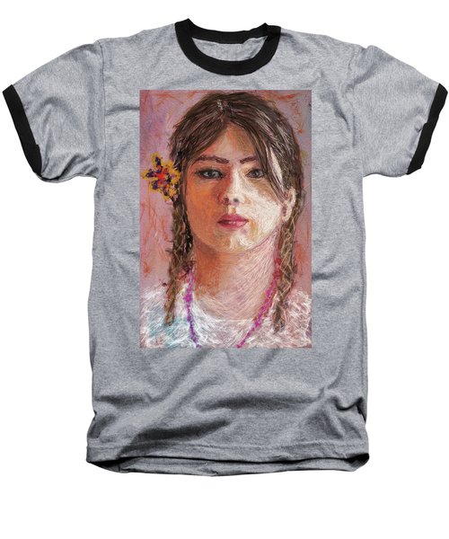 Mexican Girl Baseball T-Shirt