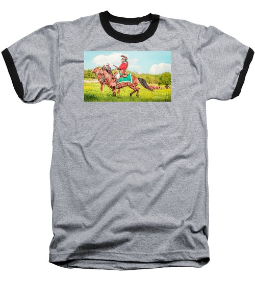 Mexican Horse Soldiers Baseball T-Shirt by Kim Henderson