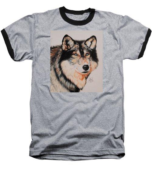 Mexican Wolf Hybrid Baseball T-Shirt