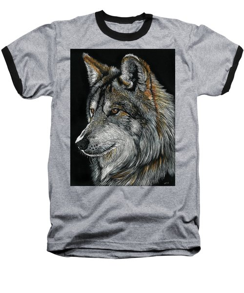 Mexican Wolf Baseball T-Shirt