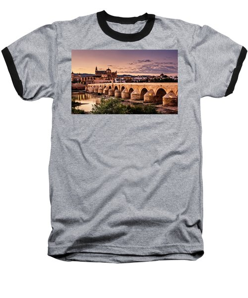 Mezquita In The Evening Baseball T-Shirt by Marion McCristall
