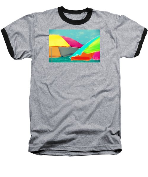Miami Beach 1 Baseball T-Shirt by France Laliberte