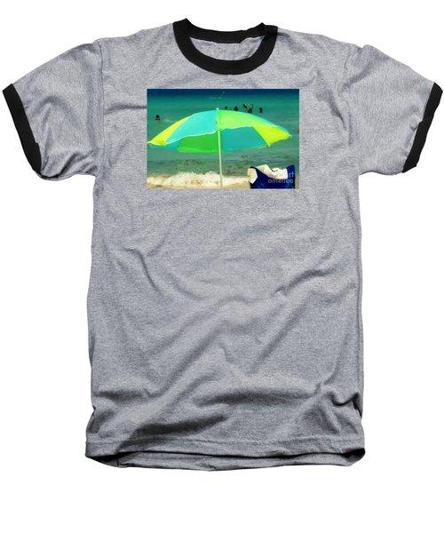 Miami Beach 3 Baseball T-Shirt by France Laliberte