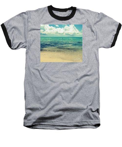 Miami Beach 5 Baseball T-Shirt by France Laliberte