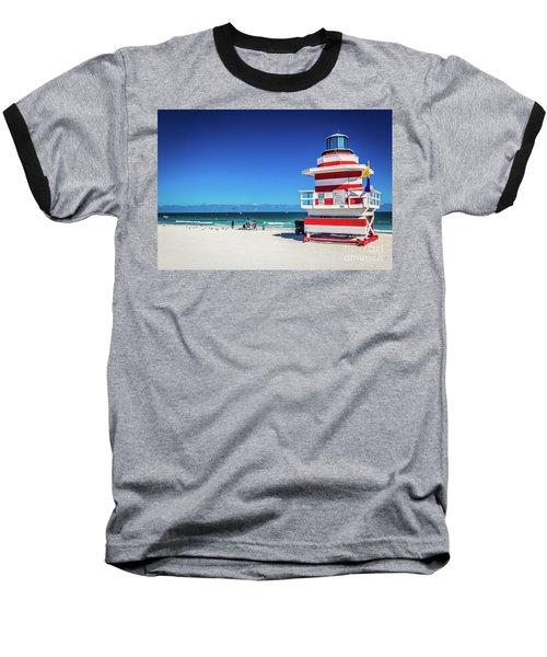 Miami Beach Lifeguard 4463 Baseball T-Shirt