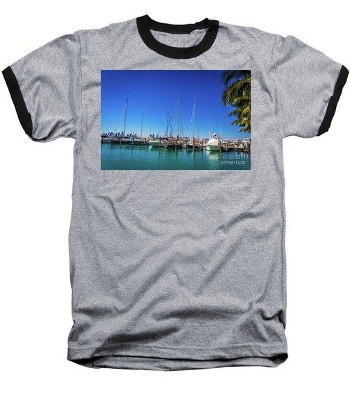 Miami Beach Marina 4509 Baseball T-Shirt