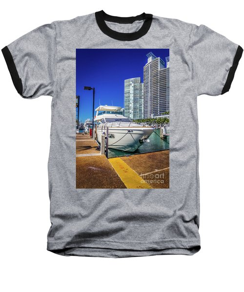 Miami Beach Marina 4578 Baseball T-Shirt