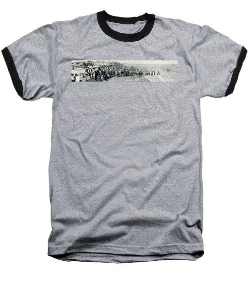 Miami Beach Sunbathers 1921 Baseball T-Shirt