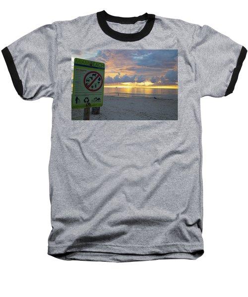 Miami Beach Sunrise Baseball T-Shirt