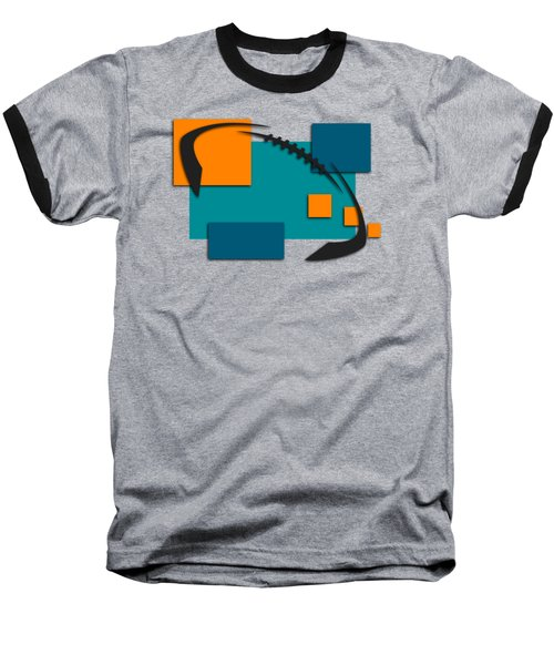 Miami Dolphins Abstract Shirt Baseball T-Shirt by Joe Hamilton