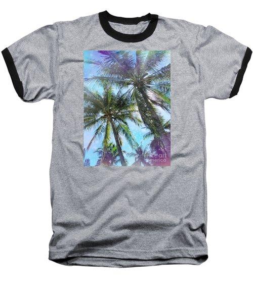 Miami Palm Trees Baseball T-Shirt by France Laliberte