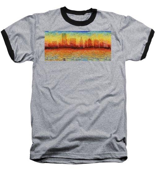 Miami Skyline 5 Baseball T-Shirt