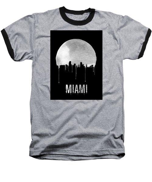 Miami Skyline Black Baseball T-Shirt