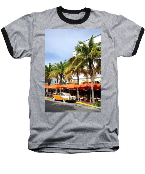 Miami South Beach Ocean Drive 8 Baseball T-Shirt by Nina Prommer