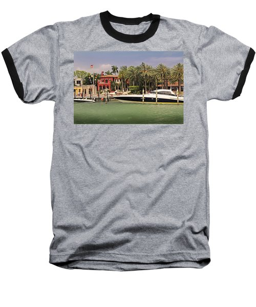 Miami Style Baseball T-Shirt by Steven Sparks
