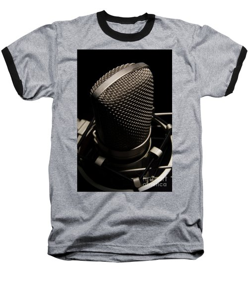 Baseball T-Shirt featuring the photograph Mic by Brian Jones