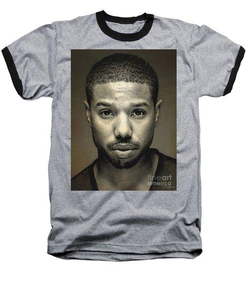 A Portrait Of Michael B. Jordan Baseball T-Shirt