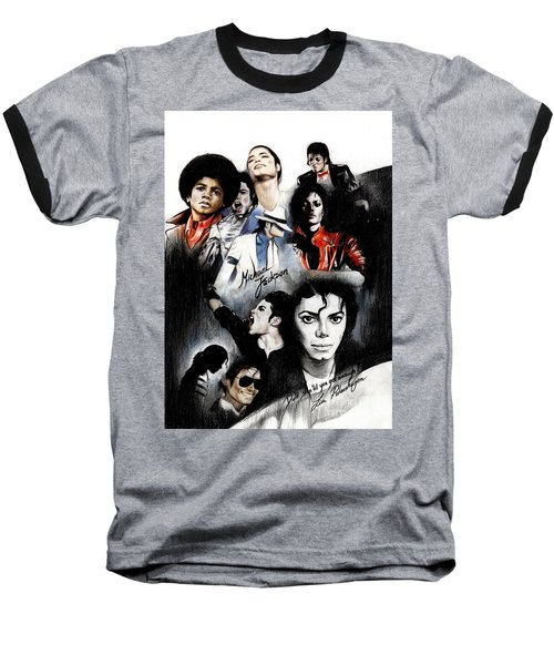 Michael Jackson - King Of Pop Baseball T-Shirt