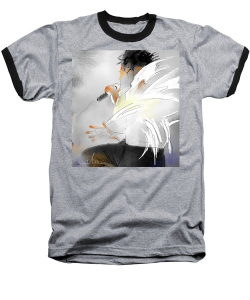 Michael Jackson 08 Baseball T-Shirt by Miki De Goodaboom