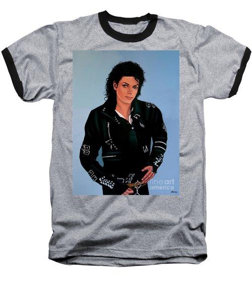 Michael Jackson Bad Baseball T-Shirt by Paul Meijering
